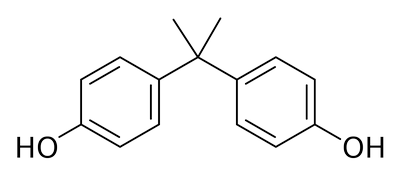 Strukturformel von Bisphenol A