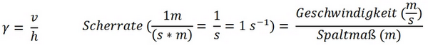 Darstellung der Scherrate als Formel: